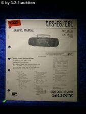 Sony Service Manual CFS E6 / E6L Cassette Recorder (#1035)