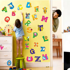A-Z Alphabet&Animals Vinyl Mural Wall Stickers Decals Nursery Kids Room Decor WS