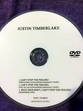 Justin Timberlake DVD single Can't Stop The Feeling Rock Your Body (not a CD)