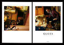 Tom Hiddleston 2-pg clipping Feb 2017 ad for Gucci - Afghan Hounds