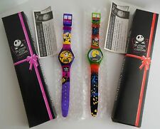LOT OF 2 TIM BURTON NIGHTMARE BEFORE CHRISTMAS WATCHES -1994-MIB Retro
