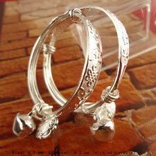 BABYS First New GIFT SILVER CHRISTENING bangle BRACELET New Coming
