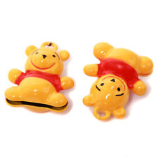 5pcs Dark Yellow&Red Bear Shapes Brass Jingle Bells Findings Christmas Charms D