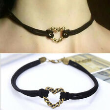1 Pc Choker Hollow-out Heart Pendant Collar Necklace Fashion Jewelry Accessories