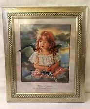 Little Girl Angel New Framed Art Do w/ Kindness Love 11 Corinthians Sandra Kuck