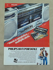 E979 - Advertising Pubblicità - 1985 - PHILIPS TANDEM HI-FI PORTATILE