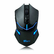 X-08 Professional 2000dpi 2.4g Wireless Gaming gioco Mouse Mouse PC Laptop Nero