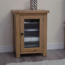 Original rustic hi-fi music cabinet cupboard unit solid oak furniture