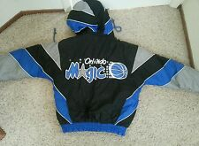 Pro Player Orlando Magic Basketball Jacket Size S - Removable Hood Great Shape