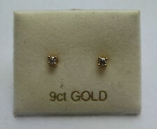 9ct Gold 0.1ct Diamond Stud earrings