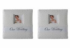 Our Wedding White Photo Album Picture Book - 2X Holds 400, 4x6 photos with memo