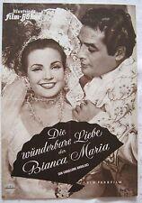 Filmprogramm IFB 3261 Die wunderbare Liebe der Bianca Maria / Un caballero And.