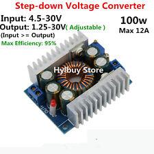 DC/DC 12A Adjustable Voltage Converter Buck 3.3V 5V 12v 24V Step Down Regulator