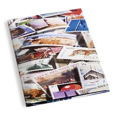 Leuchtturm Stockbook DIN A4 with Stamp Motif STAMPS , 32 black pages