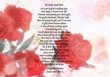 A4 personnalisé à vos amis sur le jour de votre mariage poème idéal pour encadrement