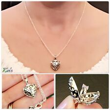Jewelry 925 Sterling Silver Ring In Heart Pendant Necklace Chain Women Fashion