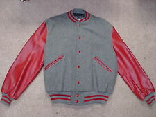 Vintage Butwin Wool Leather Letterman  Varsity Jacket  MADE IN USA DEAD STOCK 42