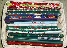 Cotton Fabric Remnant  Stash Pack - 2.5 Lbs - All Christmas- NO Scrap