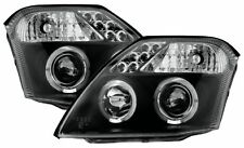 Citroen C2 (02-09) Black Halo Angel Eye Projector Front Headlights Lights - Pair