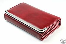 Womens Lady PU Leather Fashion Purse Wallet Handbag Clutch Card Holder Burgundy