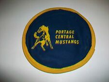 Portage Central Mustangs cloth fabric floppy flying disc