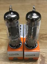 12BH7A GE Matched Pair Vacuum Tube NOS NIB Tested Strong (More Available)