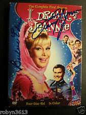 "CAST SIGNED DVD COVER ""I DREAM  OF JEANNIE"" BARBARA EDEN & LARRY HAGMAN-COA"
