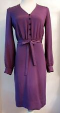 Elegant TULEH Purple Silk Dress w/Sash Waist - Sz 4