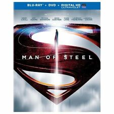 Man of Steel (Blu-ray/DVD, 2013, 2-Disc Set, Includes Digital Copy UltraViolet)