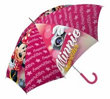 "Childrens rose ""minnie mouse superstar"" parapluie enfants brolly école pluie"