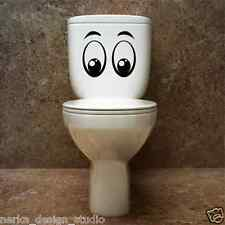 FUNNY TOILET STICKER   2 Sizes  and 2 Designs Available   Removable sticker  S29