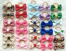50 pcs Multicolor Cat Dog Hair Bows Hair Clips Beauty Pet Grooming Accessories