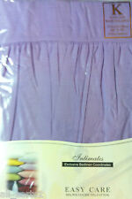 KING SIZE BASE VALANCE SHEET LILAC LUXURY POLY COTTON 180 THREAD COUNT EASYCARE