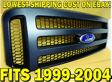 NEW 2007 Ford BLACK MATTE Grill CONVERSION Fits 1999-2004 Super Duty F250 F-350