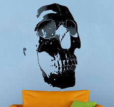 Human Skull Wall Decal Skeleton Vinyl Sticker Living Room Home Art Decor 15nt