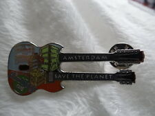 Pin Hard Rock cafe Amsterdam SAVE THE PLANET BLACK GUITAR