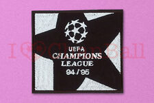 UEFA Champions League 1994-1995 Black Sleeve Embroidery Soccer Patch / Badge