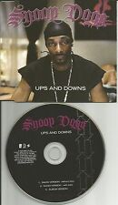 SNOOP DOGG Ups and Downs 3 REX w/ 2 RARE RADIO vers UK PROMO DJ CD Single doggy
