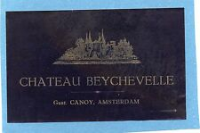 ST JULIEN VIEILLE LITHOGRAPHIE 19e CHATEAU BEYCHEVELLE EXPORT HOLLANDE§29/09/16§