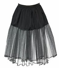 "29"" Long Black Witch Under Skirt Petticoat  Fancy Dress UK"