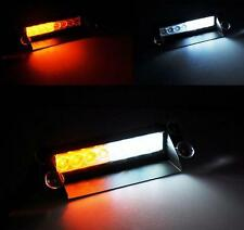 8 LED White Amber Emergency Vehicle Car Truck Windshields Dash Strobe Lights