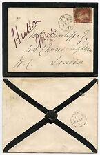 IRELAND QV 1871 MOURNING ENVELOPE PENNY RED Pl.142 PLACED SIDEWAYS
