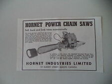 advertising Pubblicità 1948 HORNET POWER CHAIN INDUSTRY - GUELPH CANADA