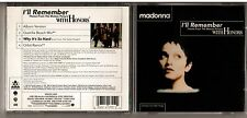 Mega Rare Madonna I'll Remember with Honors Canada 4 Track CD