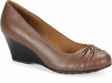 New Eurosoft Bety Brown Leather Wedge Comfortable Shoes sz 6.5M