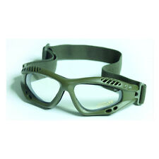 Commando AIR PRO Goggles - OLIVE GREEN CLEAR Airsoft Paintball Army Eye Wear