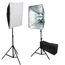 Pro 4 socket 1600 watt Photo Studio Video continuous softbox lighting kit