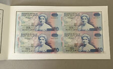 New Zealand.199310 Dollar 4 UNCUT NOTES Presentation Pack.AA PREFIX