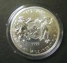 2012 Canada $1 War of 1812 3/4 oz Silver Bullion Coin one dollar 0.75oz capsule