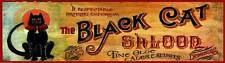 New Black Cat Saloon by Red Horse Signs Western Art Print Home Wall Decor 739017